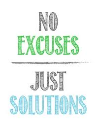 No more excuses! Get it done